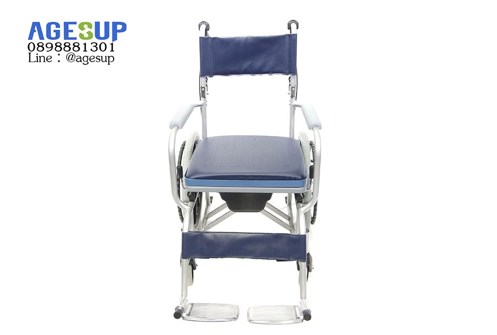 เก้าอี้นั่งถ่าย แบบมีล้อ รถเข็นนั่งถ่าย พับได้ อเนกประสงค์ รุ่น Berry (เบอร์รี่)