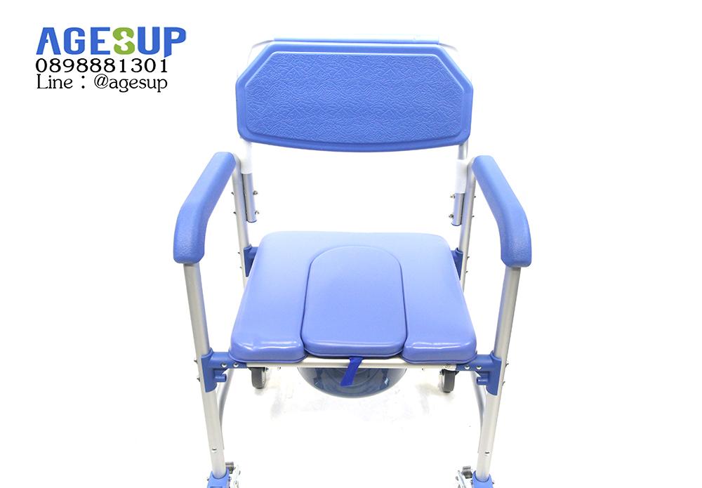 เก้าอี้นั่งถ่าย-แบบมีล้อ-รถเข็นนั่งถ่าย-คร่อมชักโครก-อเนกประสงค์-รุ่น-Lapis-(แลพิส)